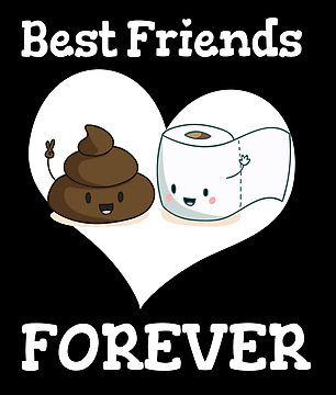 Best Friends FOREVER Toilet Paper Emoji Funny
