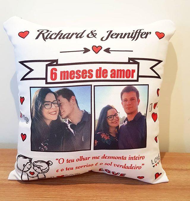 6 Meses De Amor Almofada Almofadapersonalizada