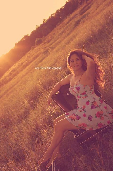 Just gorgeous. A field a chair & a beautiful girl makes for a gorgeous picture.