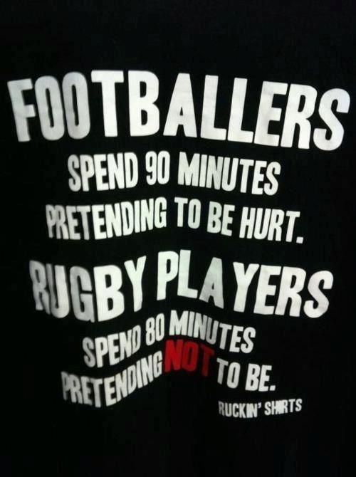 Footballers vs Rugby players...