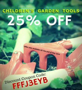 25% OFF Kids Garden Tools25% off Kids Garden Tools - Celebrating Home Improvement Month! http://happycaterpillar.com.au/25-off-kids-garden-tools/ … Get your #coupon NOW! #discount #HomeImprovementMonth #MaySpecial #Home #gardening #kids #gifts #parents