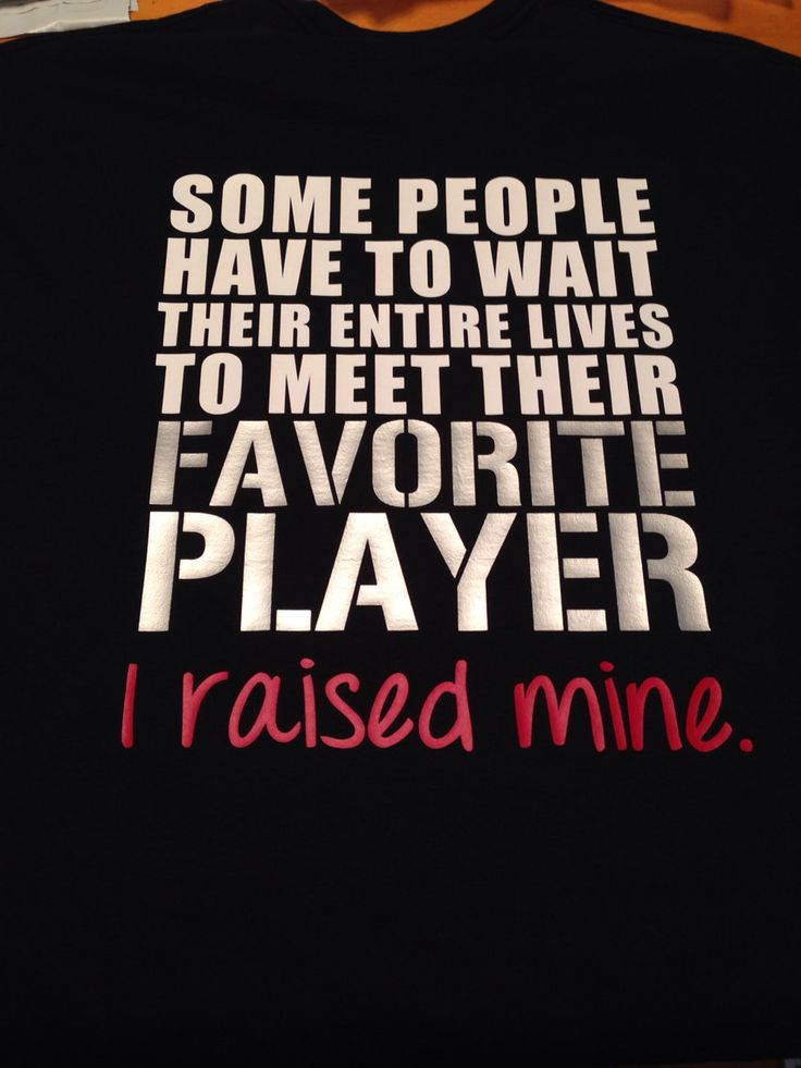 Favorite Athlete Player I Raised Mine TShirt by MissyLuLus on Etsy, $20.00