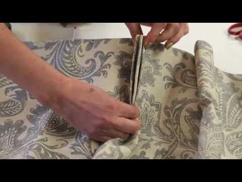 ▶ FILMS FOR WEBSITES - HOW TO MAKE FRENCH PLEATS FOR CURTAINS - YouTube