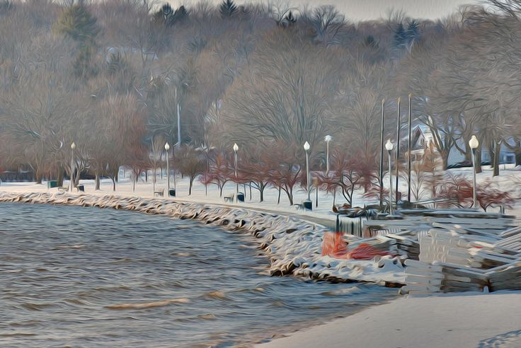 Lake Geneva, Wisconsin / Winter Shoreline   Available from $15.00 on sue-boldt.artistwebsites.com