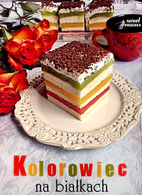 Ciasto Kolorowiec na białkach