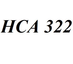 HCA 322 Entire Class Course Answers Here: http://www.scribd.com/collections/4194475/HCA-322