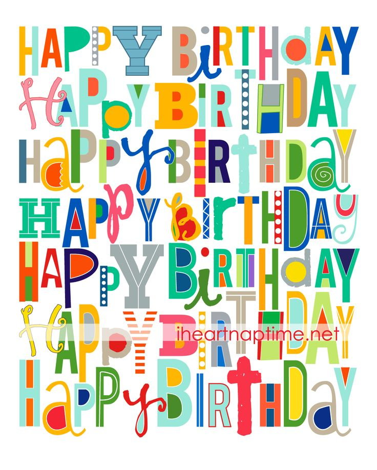 this print is perfect to use to add color to birthday celebrations! free at i heart naptime.