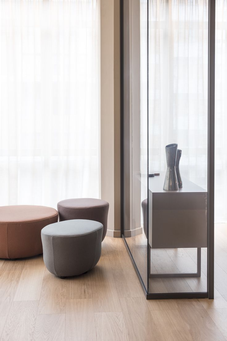 Cup pouf and Wallsystem partitions