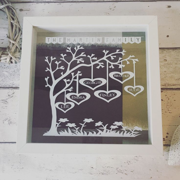 Family Tree, Personalised Family Tree, Paper Cut, Birthday Gift, New Home Gift, Newborn Gift, Framed Family Tree by PerfectParcels1 on Etsy https://www.etsy.com/uk/listing/279152292/family-tree-personalised-family-tree