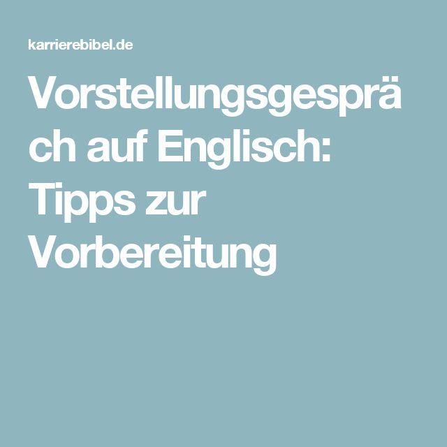 Vorstellungsgespräch auf Englisch: Tipps zur Vorbereitung