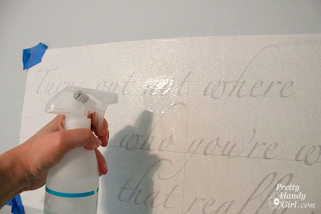 Applying vinyl wall decals