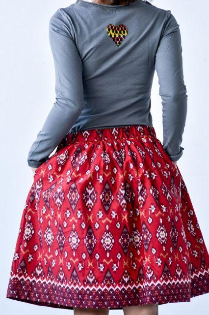 Spódnica Bombka Flores  | www.kokoworld.pl #kokoworld #skirt #batik #handmade #africa