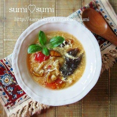 スープの季節です♥なめこのトマト卵スープ by sumisumiさん | レシピ ...