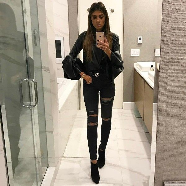 76 Winter Clubbing Outfits Winter Night Out Outfits For Women 2020 Update Night Out Outfit Ripped Jeans Outfit Winter Ripped Jeans Outfit