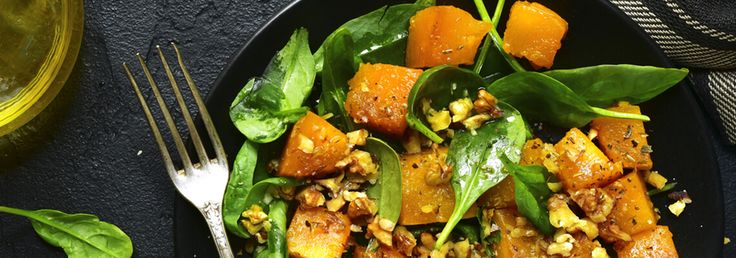 This easyyetdelicious roasted pumpkin salad with spinach & walnuts is the perfect combination between comfort food andwarmer days salads. Try it tonight! INGREDIENTS 900g butternut pumpkin, peeled& cut into 2.5cm cubes olive oil cooking spray 150g spinach WALNUT DRESSING 1 tablespoon extra-virgin olive oil 1 cup walnuts, roughly chopped 1 1/2 tablespoons lemon juice 1 …