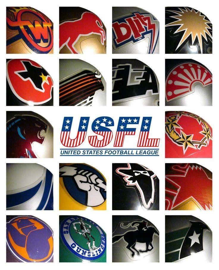 USFL helmet logos American football, Football league