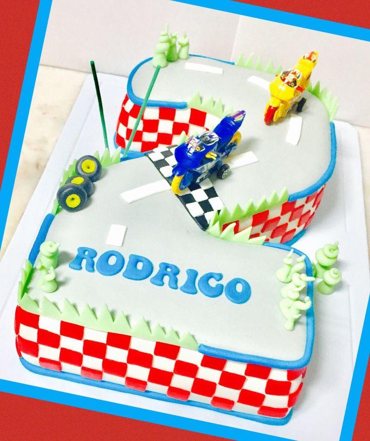 Bolo Cake Moto Motas  2 Pista corrida