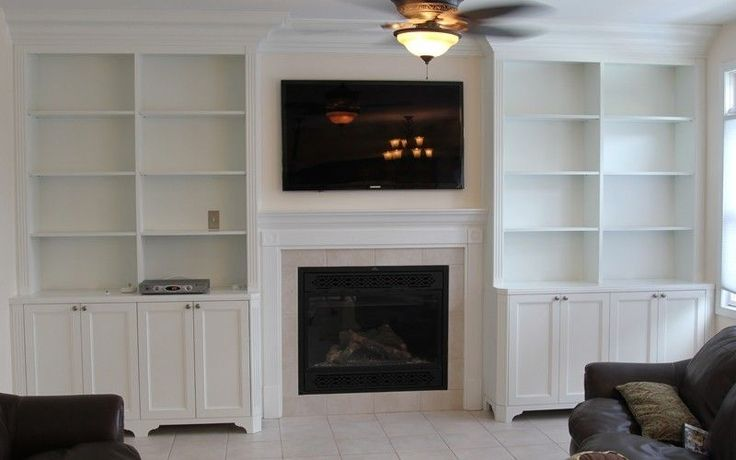 Built In Shelves Around Fireplace Bookcases Around The