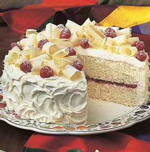 Recipe for White Chocolate Raspberry Cake