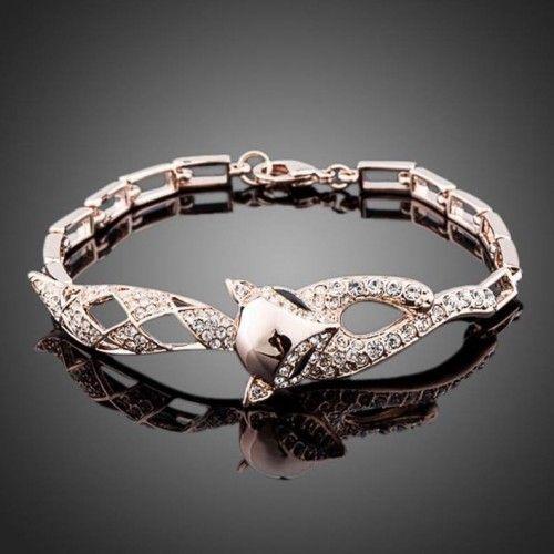 Rose Gold Bracelet 'Fox'  Click to buy >>>  www.lillyjack.com.au