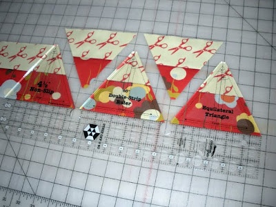 Instructions for Hexagon Quilt using creative grids equilateral triangle ruler