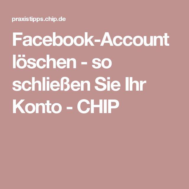 Facebook-Account löschen - so schließen Sie Ihr Konto - CHIP
