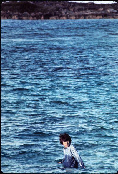 The Beatles in color: Unseen photos – CNN Photos - CNN.com Blogs George while shooting Help in the Bahamas-1965 (Henry Grossman)