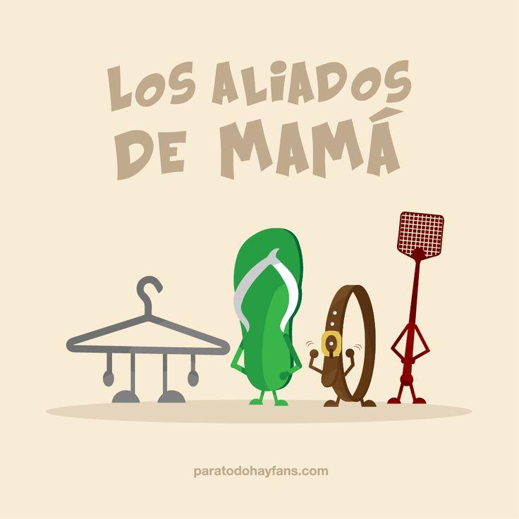 Quien esquivó o le temió a estos aliados no tuvo infancia...¡Feliz día de las madres!