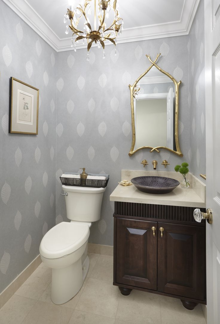 32 best images about our projects on pinterest nail head for Powder room bathroom vanities