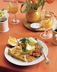 Maple bacon Quiche  The balance of sweet and savory in this quiche comes from sauteed onion that is deglazed with maple syrup. You can make the quiche ahead of time, and refrigerate it overnight; reheat it just before serving.