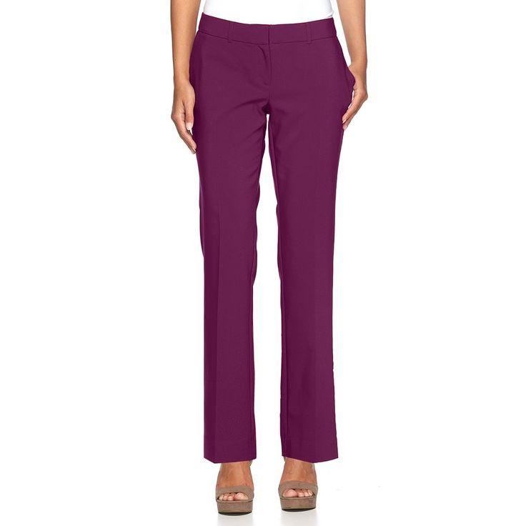 Women's Apt. 9® Torie Curvy Fit Dress Pants, Size: 4, Drk Purple