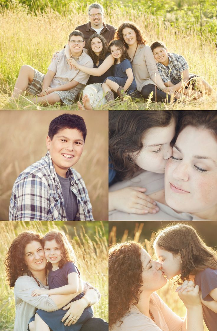 Brown, beige and navy blue. Pastel Photography. Another photographer's family.