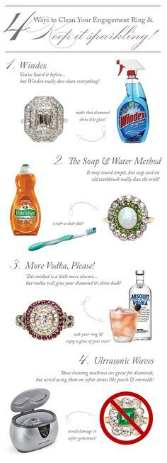 How to Clean Your Engagement Ring / A Vintage Engagement Ring & Antique Jewelry Blog by Trumpet & Horn