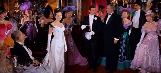 Leslie Caron, Gigi, 1958  When Gigi enters Maxim's the entire restaurant is dumb-struck. They stand in silence, motionless, as she and Gasto...