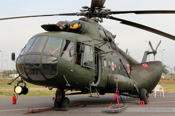 Polish Mil Mi 8, in SAR/Combat Rescue/Medivac configuration, at Radom Air Show, Poland, August 22-23 2015.