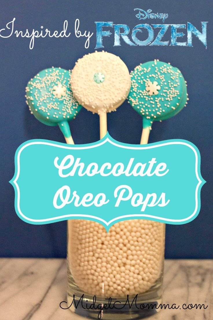 Have a frozen fan? These simple to make Disney Frozen inspired Chocolate Oreo pops are a perfect disney inspired frozen treat for all frozen fans.