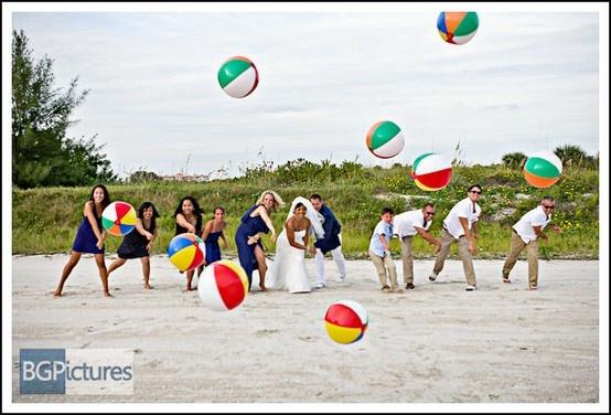 Formal gowns + beach balls = Phenomenal Photo Op.