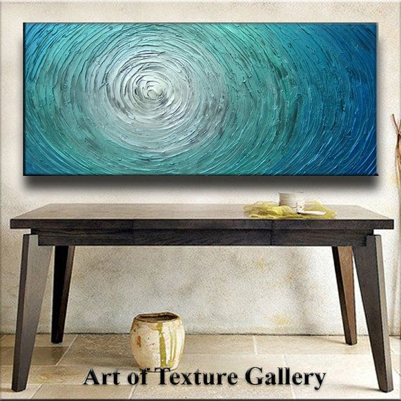 52 x 26 Custom Original Abstract Heavy Texture by artoftexture, $164.99....will attemp to DIY with my colors.
