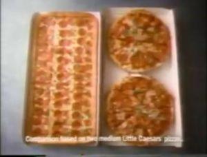 Bigfoot Pizza from Little Cesars!! back when little cesars was good now it taste like crap!