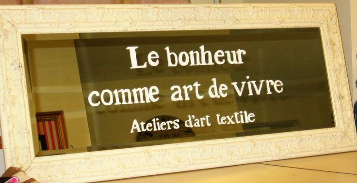 Le bonheur comme art de vivre Ateliers d'art textile www.christinegrenier.com https://www.facebook.com/christinegreniercreatrice