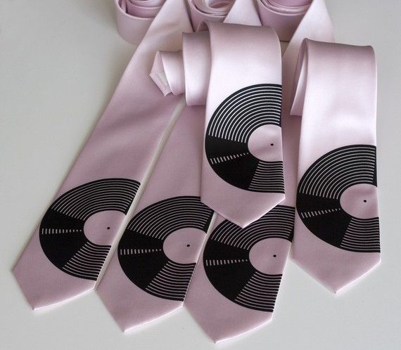 5 Groomsmen microfiber neckties wedding discount by Cyberoptix, $135.00