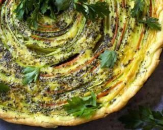 Quiche végétarienne légère en spirales