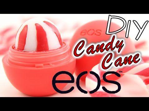 EOS selber machen DEUTSCH   DIY EOS Candy Cane Lip Balm   Geschenkidee   Lippenbalsam herstellen - YouTube