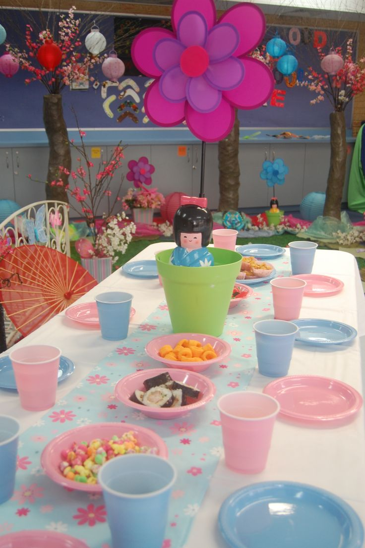 Chinese tea party table setting