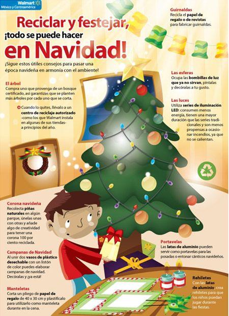 Aprende a reciclar y festejar en Navidad ;) #accionesverdes #estudiantes #umayor