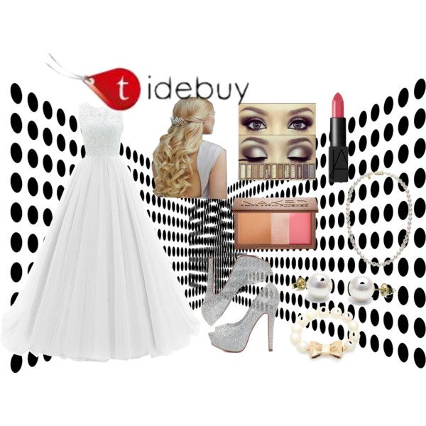 Prom Is Silver! by sophee-xoxo on Polyvore featuring Charlotte Russe, Kate Spade, Mikimoto, Urban Decay and NARS Cosmetics