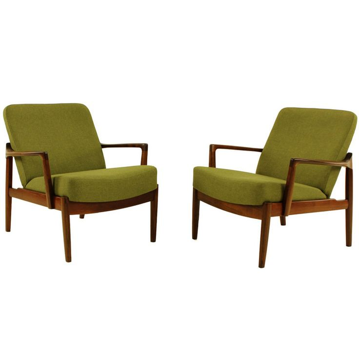 1stdibs | Pair of Danish Modern Armchairs by Edward & Tove Kindt Larsen