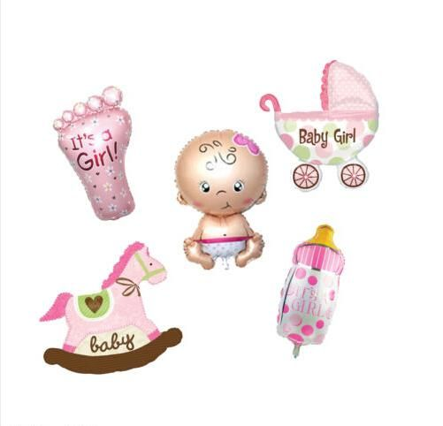 [Visit to Buy] Cute It's a Girl foil balloon for new born baby girl ,inflatable self-sealing print toys for baby christening party decoration #Advertisement