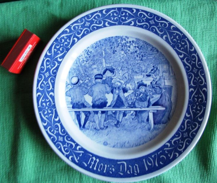 Vintage Rorstrand 1973 Sweden Limited Edition Plate Wall plaque blue LARSSON