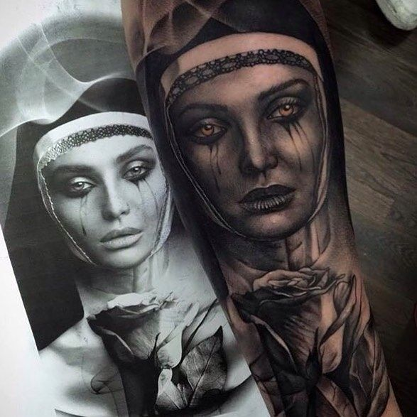 awesome Top 100 tattoo from tattoo art magazine   This amazing #blackandgrey #nun & #rose #portrait #tattoo is by @pxabodyart -- very nice work Pedro! -- ARTISTS: tag & # us to share your work with #tattooartistmagazine Check more at http://4develop.com.ua/top-100-tattoo-tattoo-art-magazine/